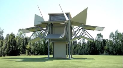 Kitted out modular house can unfold in minutes