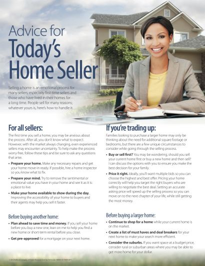 Advice for Today's Home Seller