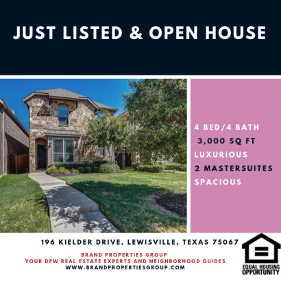 Just Listed & Open House For This Lewsiville Home For Sale