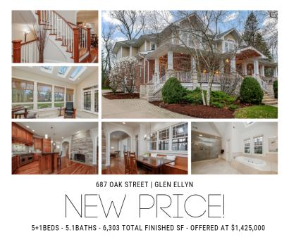 New Price! 687 Oak Street | Glen Ellyn