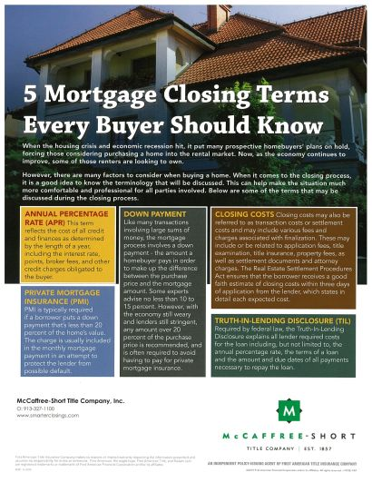 5 Closing Terms Every Buyer Should Know