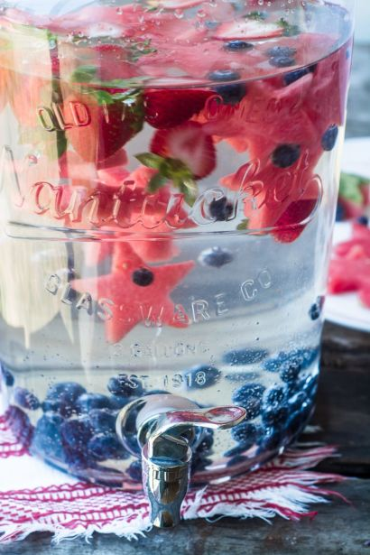 4th of July Fruit Water Recipe