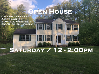 Open House Saturday 6/1/19 from 12-2