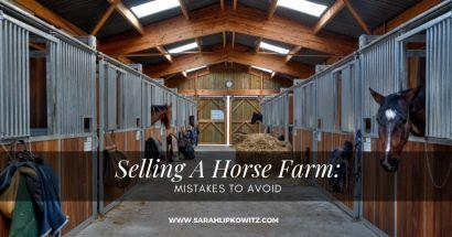 Selling A Horse Farm