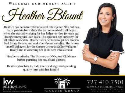 Welcome, Heather Blount!