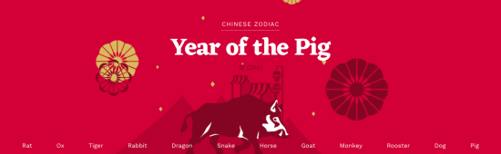 2019 Year of the Pig: Happy Lunar New Year!