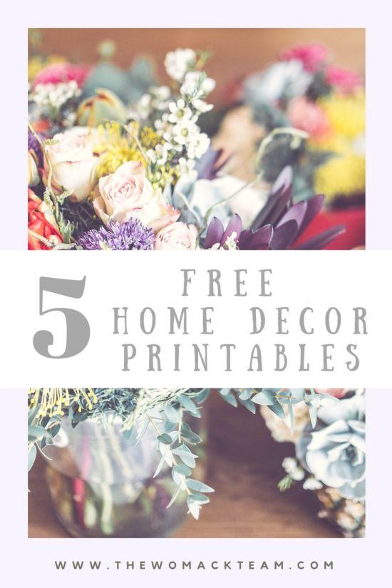 Free Home Decor Printables