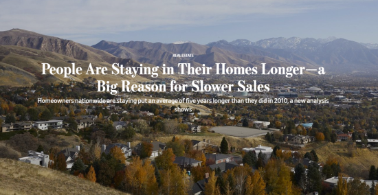 People Are Staying in Their Homes Longer—a Big Reason for Slower Sales