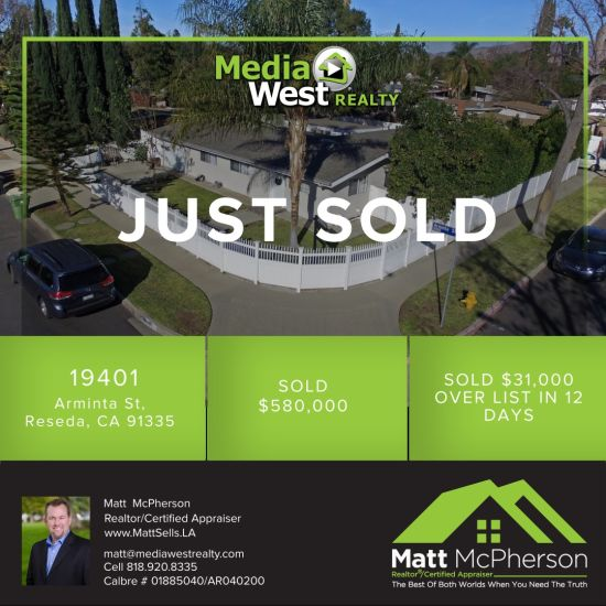 Just Sold 19401 Arminta