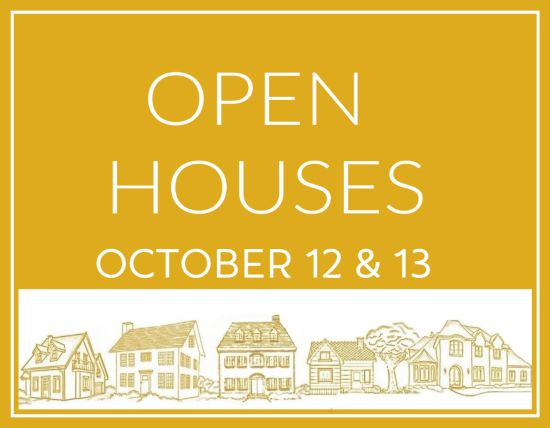 Open Houses Saturday & Sunday, October 12 & 13