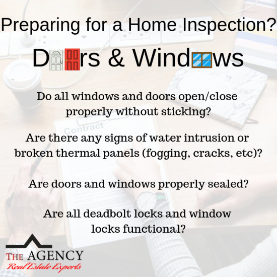 Preparing for a Home Inspection? Doors & Windows!