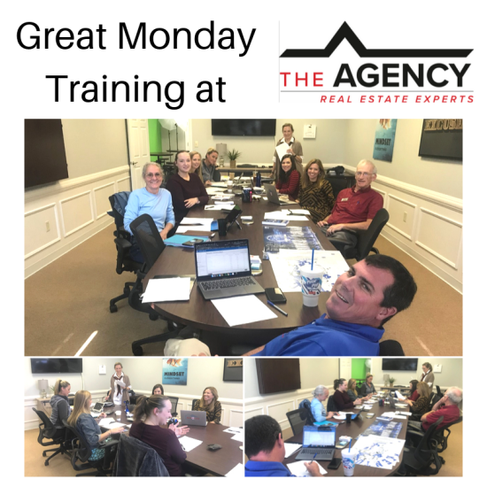 Monday Training at The Agency with Carole Schoo!