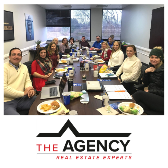 Monthly Sales Meeting at The Agency!