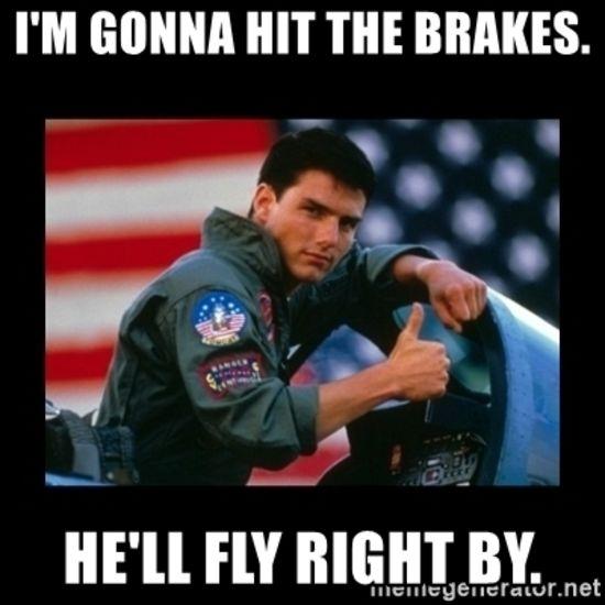 Whoa?!?!  Who hit the brakes?