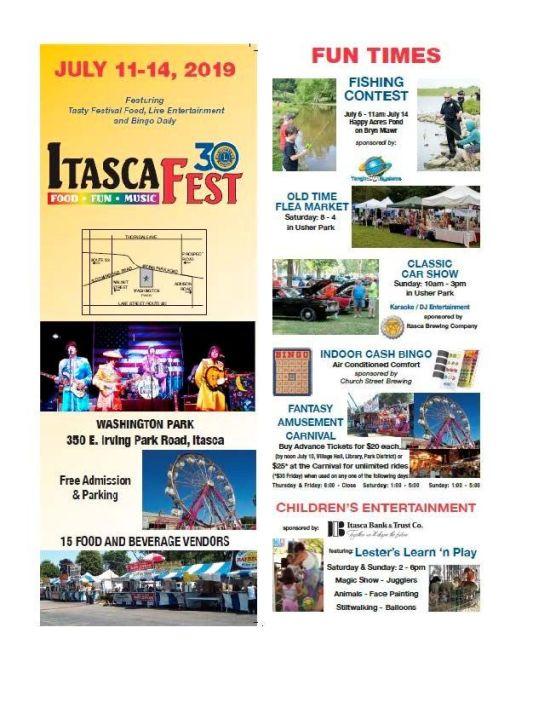 Itasca Fest!! 7/11-7/14