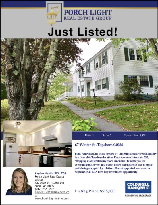 New Multi Unit Listing from Kaylee Heath