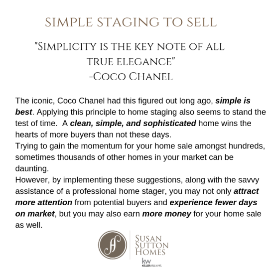 Simplifying Home Staging