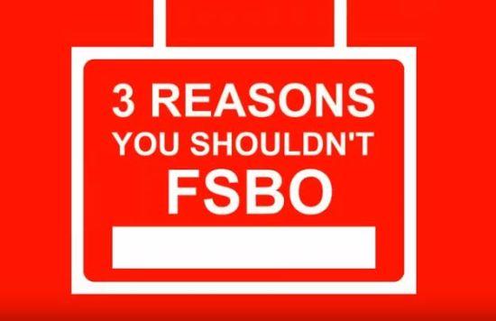 3 Reasons You Should not FSBO!