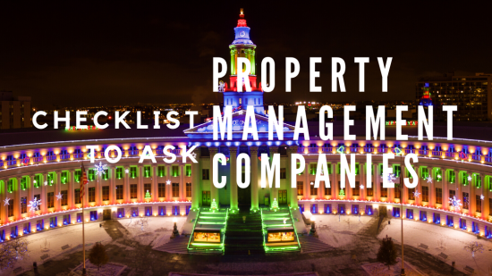 Checklist to Ask Property Management Companies