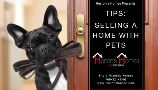 Tips:  Selling a Home with Pets