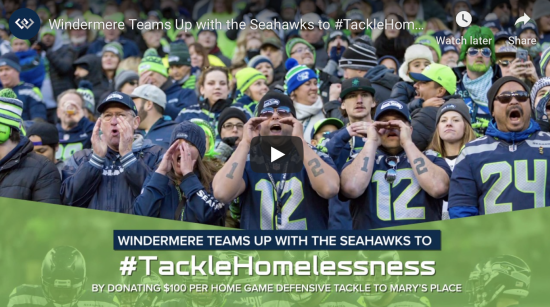 Windermere Teams Up with the Seahawks to #TackleHomelessness