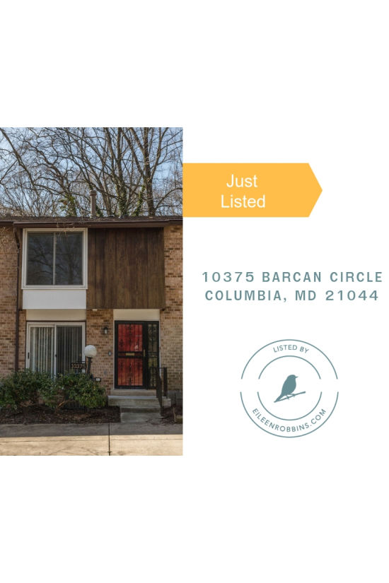 Just listed 10375 Barcan Circle Columbia MD 21044