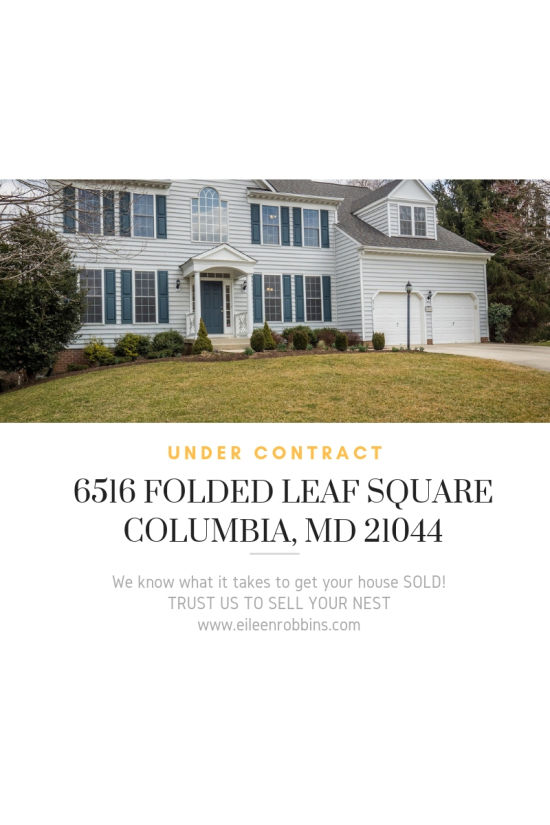 Under Contract – 6516  Folded Leaf Square, Columbia, MD 21044