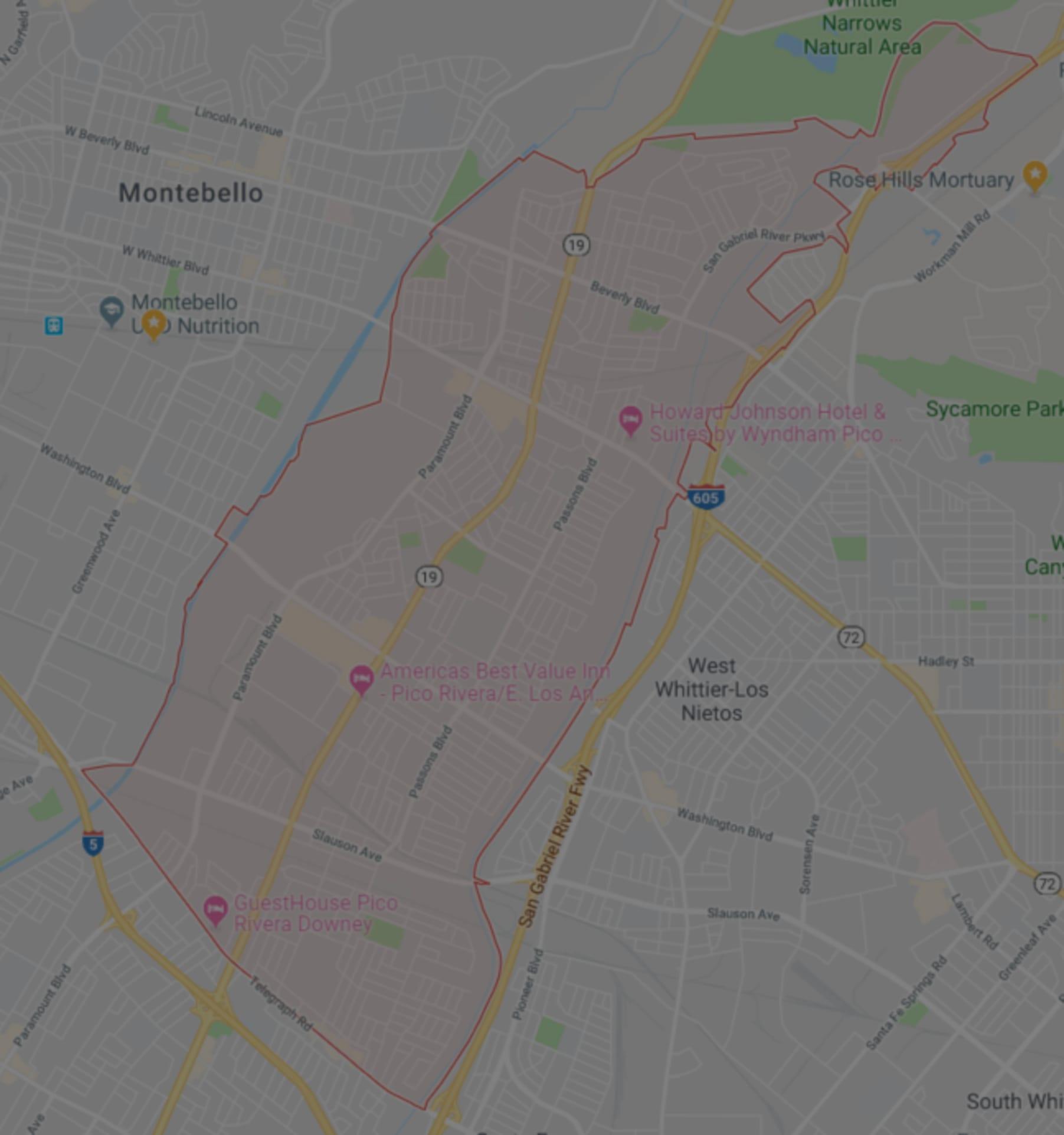 Pico Rivera Zip Code Map.Pico Rivera Homes