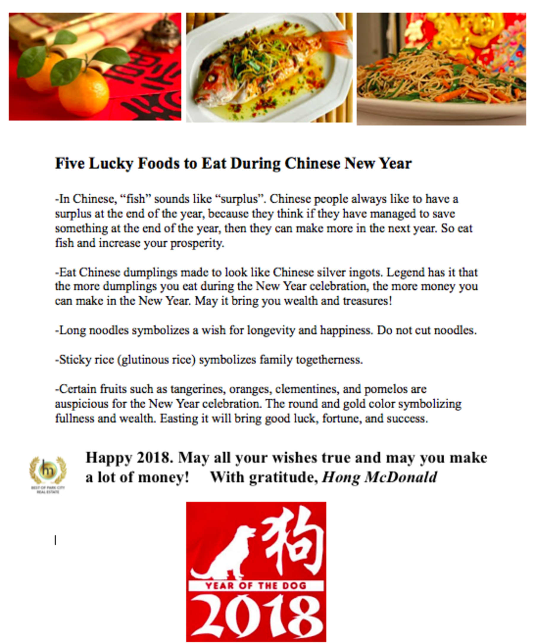 2018 Year of the Dog Chinese New Year Predictions from Hong McDonald ...