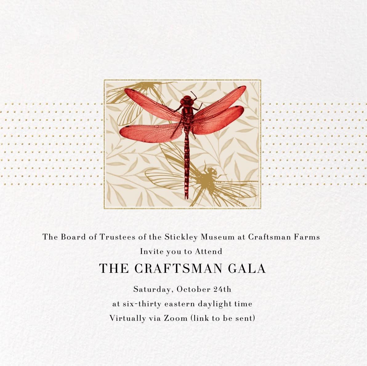 Stickley Museum 2020 Gala Invitation