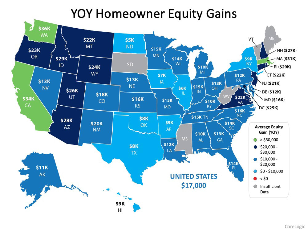 YOY Home Equity Gains