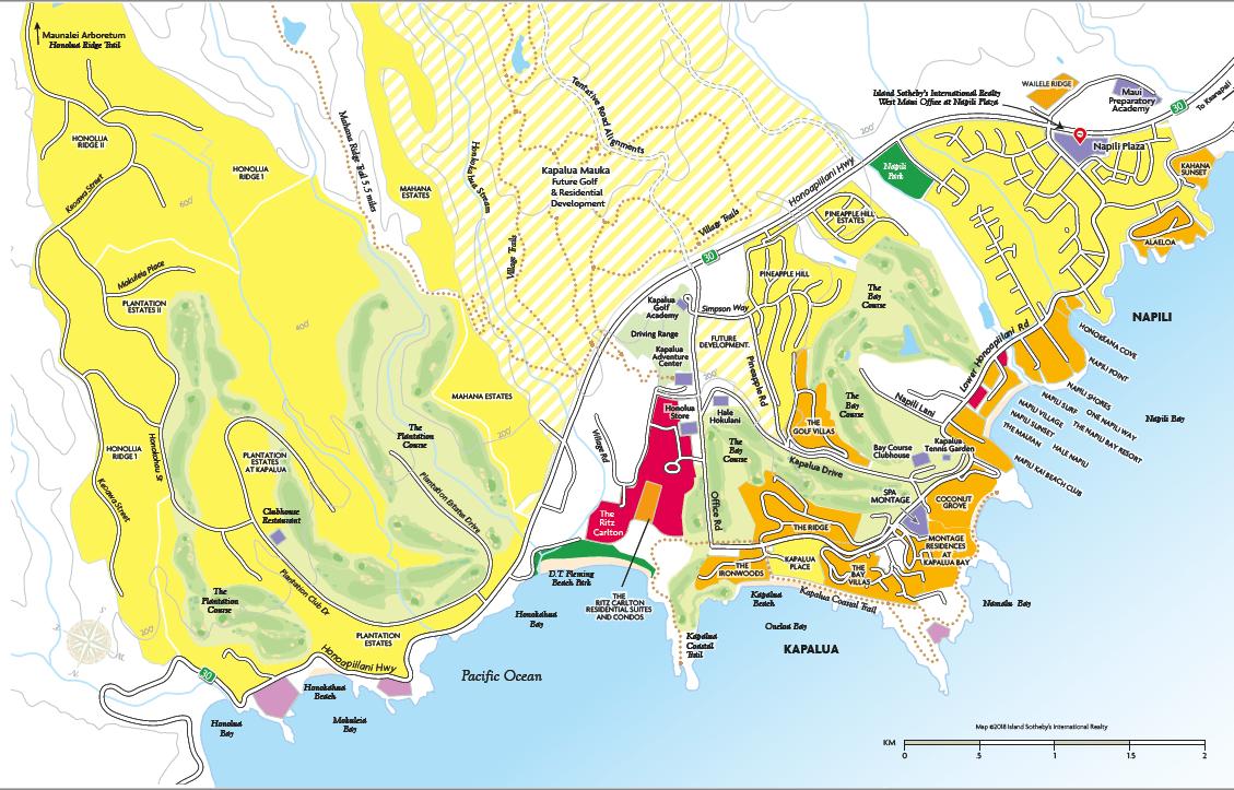 Map of Kapalua & Napili