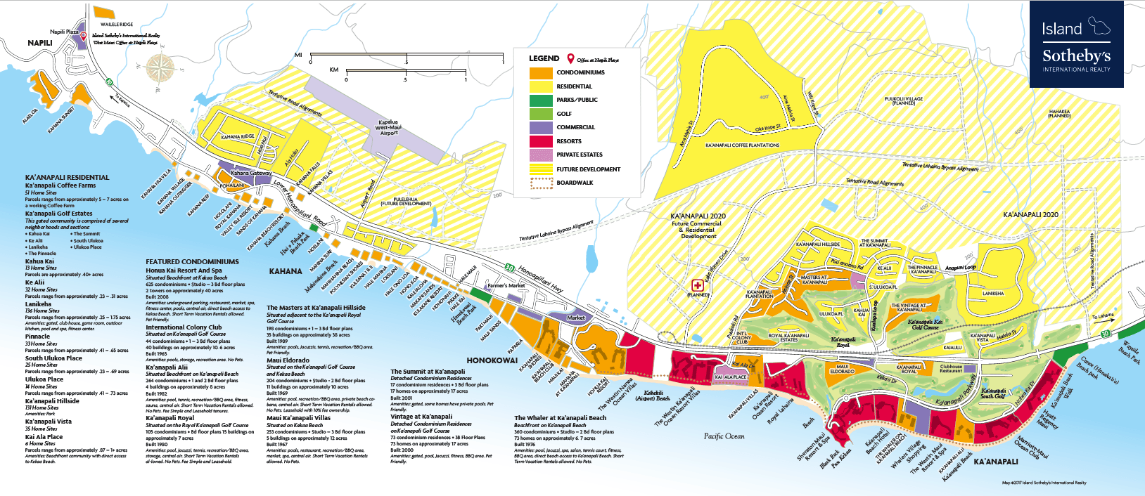 Kaanapali Site Map