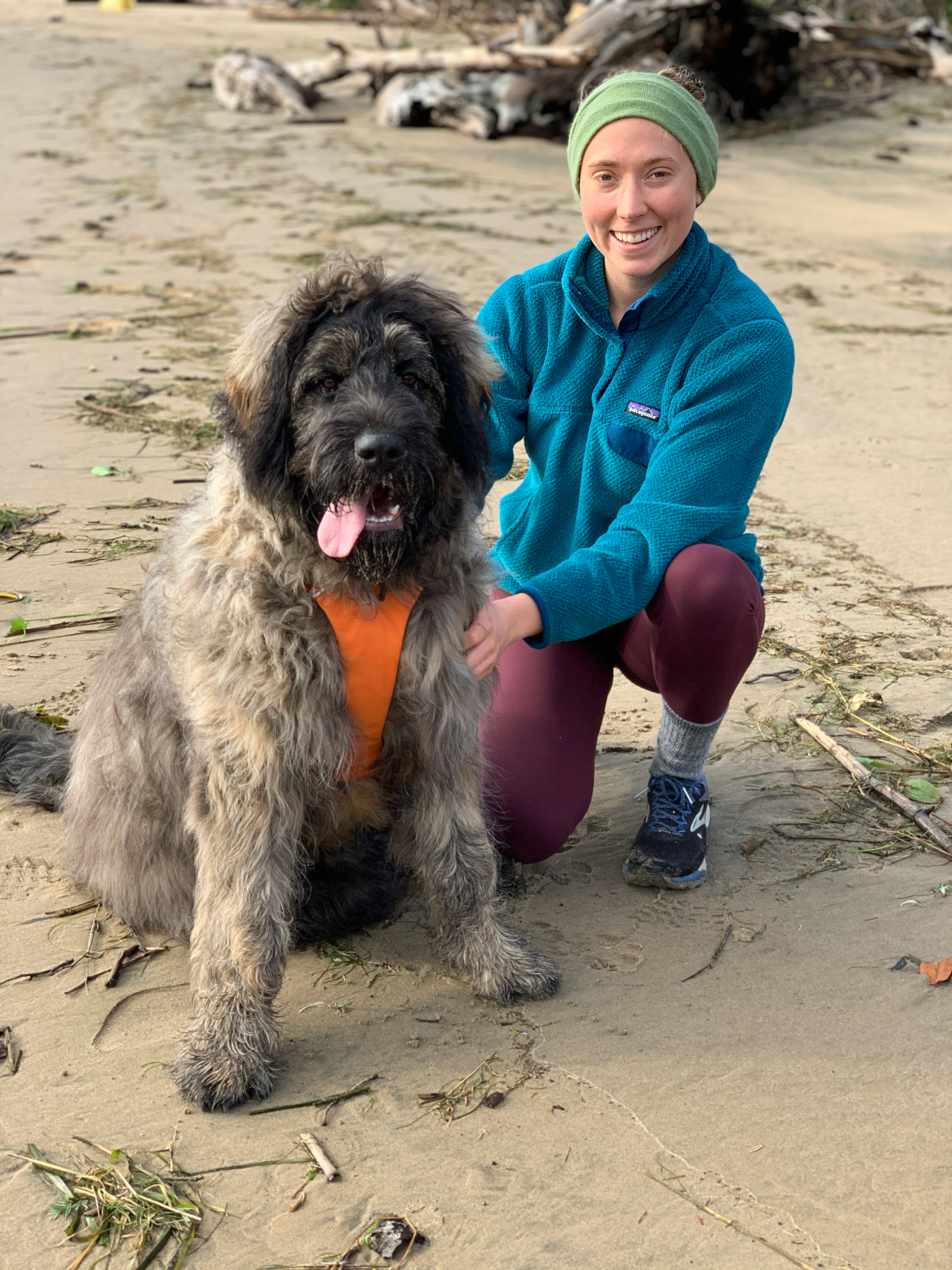 Girl and her Dog on Manzanita Beach