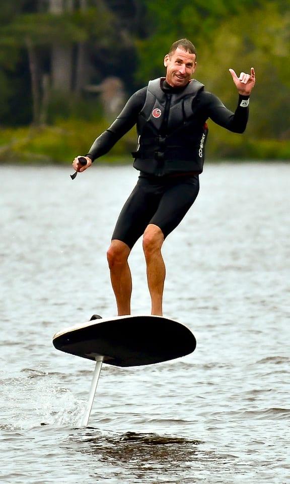 Fliteboarding near Gearhart on Cullaby Lake